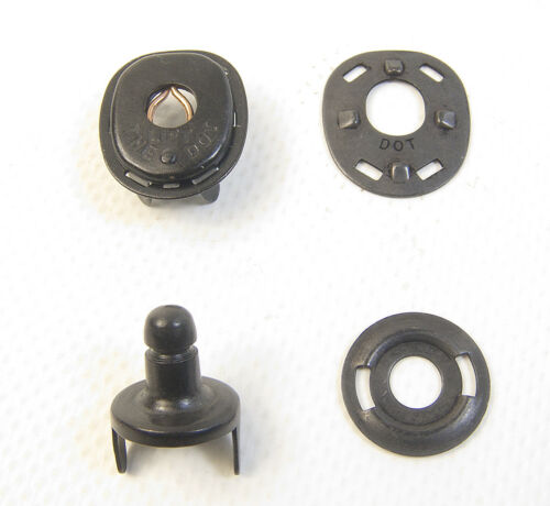Lift The Dot Fabric Stud & Socket w/ Backing Plates, Black Oxide, 10 Piece Set