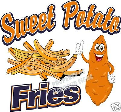 Fries Sweet Potato Concession Decal 12 Restaurant Food Truck Van Vinyl Menu