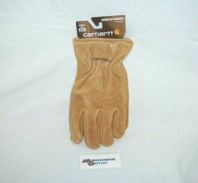 Carhartt Mens Leather Work Gloves - Xx-large Brown