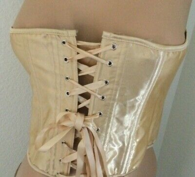 Alivila.Y Fashion Satin Vintage Underbust Corset Bustier Size XL