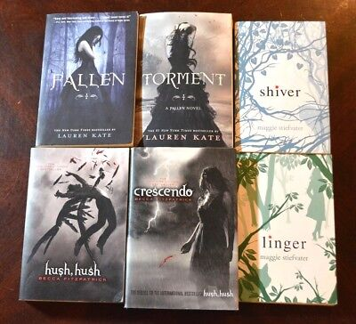 Lot 6 Ya Teen Nyt Bestseller Dystopian Shiver Hush Fallen Crescendo Linger W6