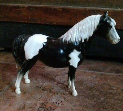 Vintage Breyer Traditional Shetland Pony Black And White Glossy K
