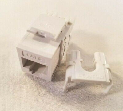61110-RW6 Leviton eXtreme Cat 6 QuickPort Jack, White