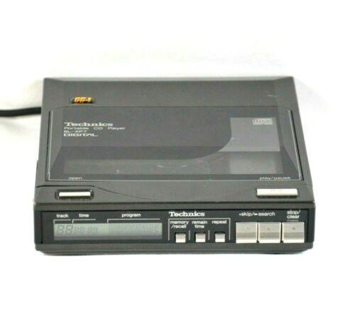 Vtg 1985 TECHNICS SL-XP7 Portable CD Player Retro Black Made in Japan HTF RARE