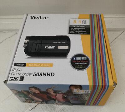 Vivitar DVR 508NHD Digital Camcorder 4x Digital Zoom Black 5.1 Mega Pixels...