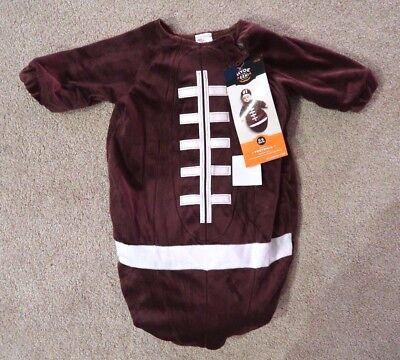 Baby Bunting Football Halloween Costumes (Brown Football Bunting Halloween Costume Infant Baby 0-6 months superbowl NO)