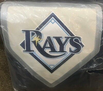 Mlb Baseball Bettwäsche (Pottery Barn Teen Tampa Bay Devil Rays FULL QUEEN duvet navy MLB BASEBALL patch )