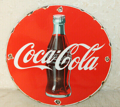Coca Cola Vintage Style Porcelain Signs Country Sore Gas Station Advertising 12'