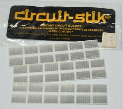 New Vintage Circuit-stik Prototype Circuit Board Dual In Line 14 Lead Stickers