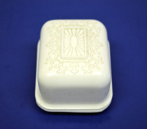 """VINTAGE BUFFALO JEWELRY CASE CO. CELLULOID GORDON JEWELRY 2"""" RING CLAM CASE!"""