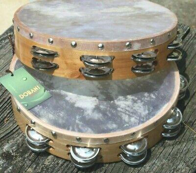 13 Dobani Tambourines wholesale lot made in Pakistan real skin - Wholesale Tambourines