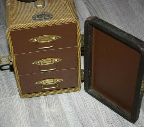 Vintage Baja Barnett & Jaffe 3 Drawer Film Slide Case + Slides