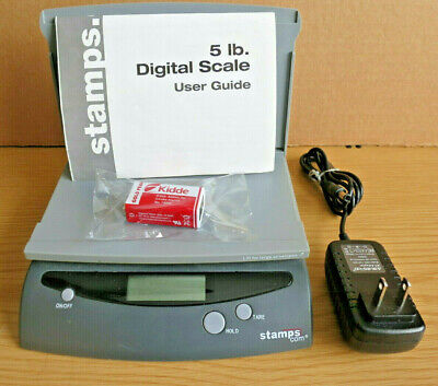 Stamps.com Digital Acdc Postal Tare Scale 5 Lb Chord Manual Battery