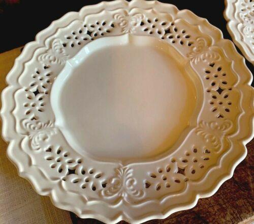 Pair Vintage English Creamware Plates