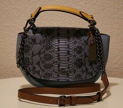 Coach 37181 Nomad Top Handle Crossbody Colorblock Exotic Leather Rare Coach Top Handle Leather