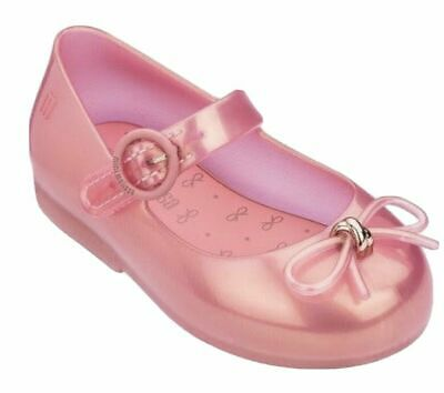 MINI MELISSA PINK Toddler Size 9 Sweet Love Ballerina Sandals Jelly Bow 32803