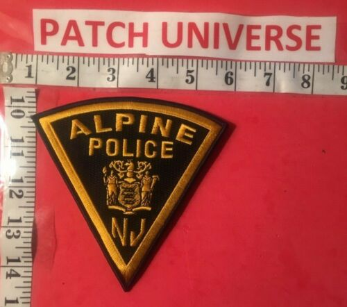 ALPINE NEW JERSEY  POLICE  SHOULDER PATCH  E045