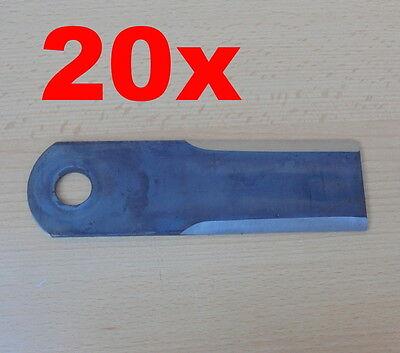 20 x Claas 0000600172 Schlegelmesser Strohhäckselmesser - Dominator Mega Medion