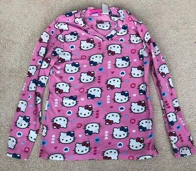 Hello Kitty Juniors Medium Pink Fleece Pajama (Fleece Pajama Set)