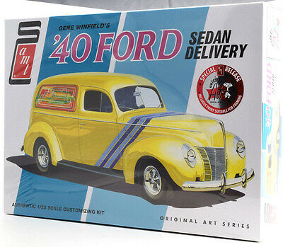 Amt Gene Winfields 1940 Ford Delivery Sedan 1 25 Plastic Model Car Kit 769
