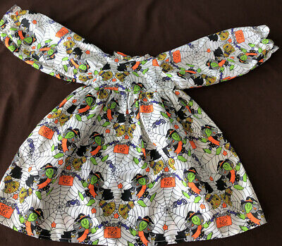 Vtg Halloween Handmade Hand Sewn Dress Outfit Doll Goose Scarcrow Party Decor