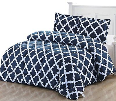 - Printed Comforter Set with 2 Pillow Shams Brushed Microfiber by Utopia Bedding