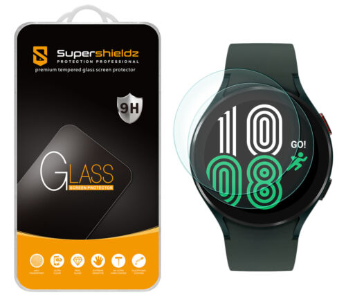 2X Supershieldz Tempered Glass Screen Protector for Samsung Galaxy Watch 4 44mm