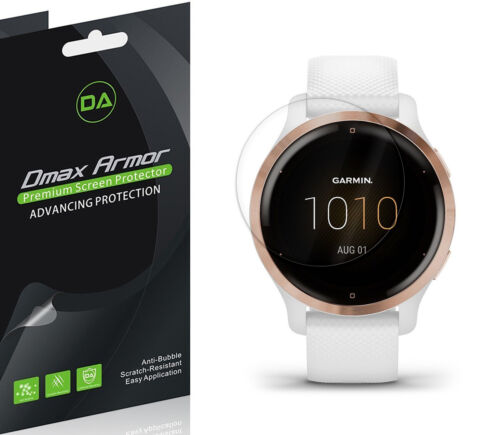 3-Pack Dmax Armor Full Coverage Clear Screen Protector for Garmin Venu 2S