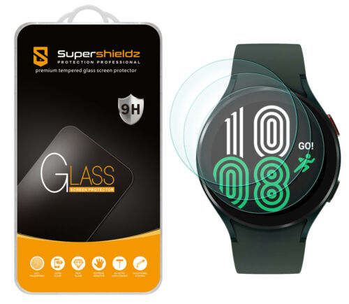 3X Supershieldz Tempered Glass Screen Protector for Samsung Galaxy Watch 4 44mm