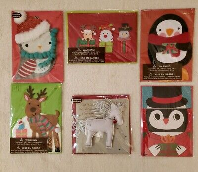PAPYRUS Greetings Cards Christmas Lot of 6 Traditional, Religious, Handmade ()