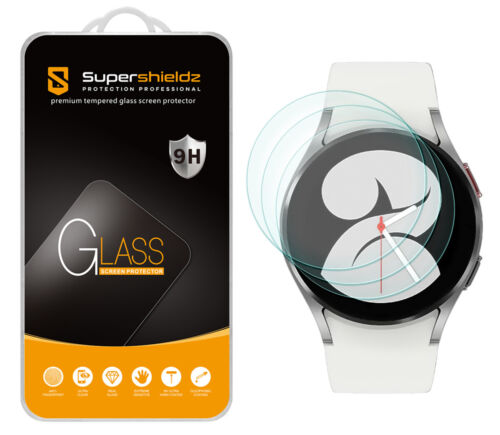 3X Supershieldz Tempered Glass Screen Protector for Samsung Galaxy Watch 4 40mm