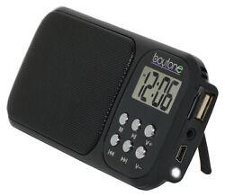 Boytone BT-92B Portable FM Radio Alarm Clock with Earphones, Flash light, USB