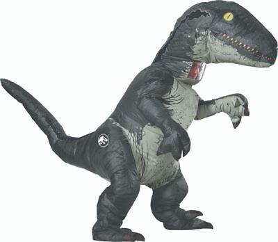 Rubies Jurassic World Velociraptor Aufblasbar Erwachsene Halloween Kostüm - Velociraptor Kostüm Blau
