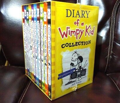 Diary of a Wimpy Kid Collection Box Set [10 Books] by Jeff Kinney ✔NEW✔