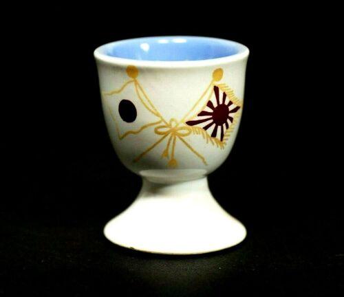 WW2 Japanese Navy Commemorative Sake Cup 1944 Gunhai Pottery kutani-ware 6.3cm