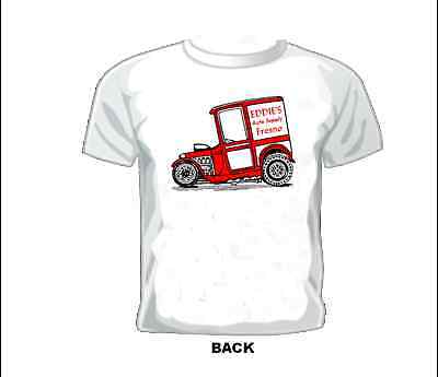 Vintage RACE/GASSER/DRAG T-shirt EDDIE'S AUTO SUPPLY FRESNO - Auto Racing Supplies