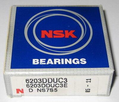 Nsk 6203 Deep Groove Single Row Ball Bearing - 40 Mm Od - 17 Mm Id - Double Seal