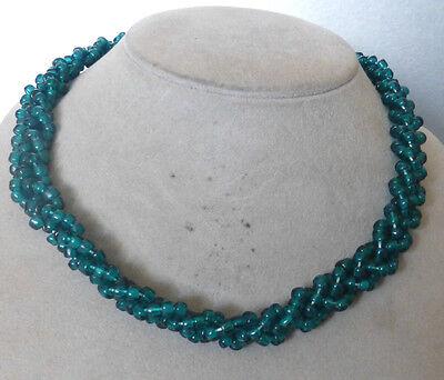 ❂ ► Sehr schöne  Hals- Kette - Türkis- Farbe, Vintage, ungetragen  50er Jahren