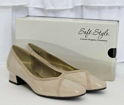 Soft Style Hush Puppies LANIE Tan Nude Taupe Beige Heels Pumps Dress Shoes NEW ()