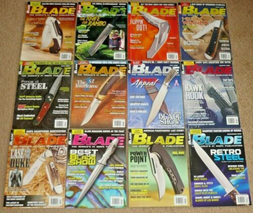 12 BLADE Magazines Knives Complete Year 2008 Vol. 35 1-12 Uncirculated NOS RAMBO