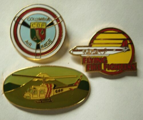 CDF  California Department Forestry Aviation Pin - Three Different - Cal Fire