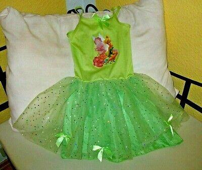 Disney Fairies Tinkerbell Fee Elfe Kleid Tüll Kostüm Faschingskostüm Gr. 110/116