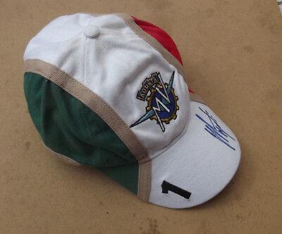 GENUINE AGO AGOSTINI GIACOMO OFFICIAL MERCHANDISE HAND SIGNED CAP HAT 15 TIME GP