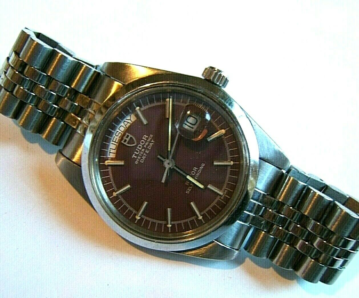 VTG 1971 ROLEX TUDOR PRINCE DATE DAY AUTOMATIC 9450/0 JUMBO 38MM AUTOMATIC W BOX - watch picture 1
