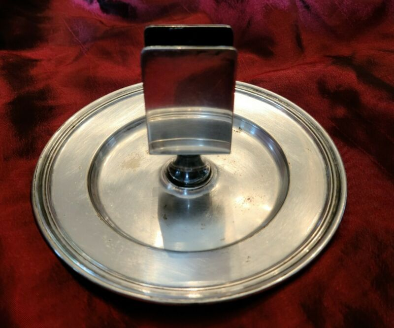 """St Regis Hotel NYC Silver 6"""" Match Stand by R Wallace"""