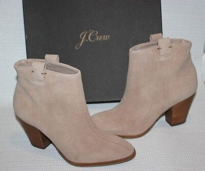 J CREW Eaton suede ankle boots 6.5 Suede Shoes ankle c2030 Natural/ Beige NEW
