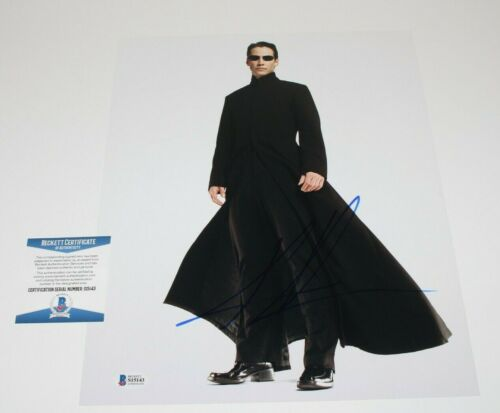 KEANU REEVES SIGNED 'THE MATRIX' MOVIE 11x14 PHOTO BECKETT BAS COA JOHN WICK NEO
