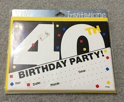 80's Vintage FRANCES MEYER 40th Birthday Stationary Invitations 8 Cards - 80s Birthday Invitations