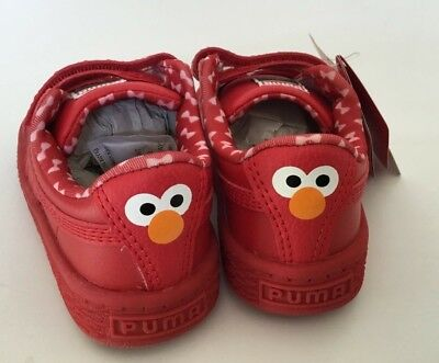 Puma x Sesame Street Kids Basket Mono V Elmo red Toddler shoes sneakers