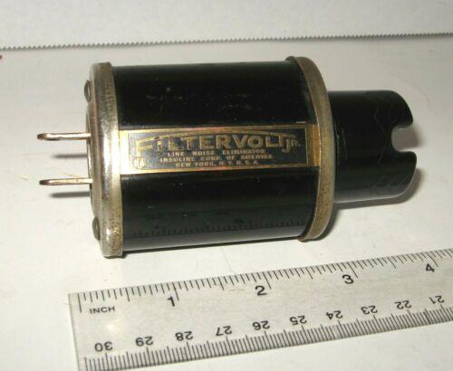 rare vtg ICA FILTERVOLT JR Line Noise Eliminator for Radio Sets 1930